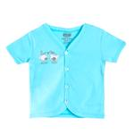 Smart Baby Baby Boys Short Sleeves Button Closure Plain T-shirts,Blue-SIMG43001HTS