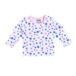 Smart Baby Baby Girls Full Sleeves Printed T-shirts, Pink/White-SIMG48001FTP