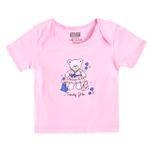 Smart Baby Baby Girls Short Sleeves Plain T-shirts, Pink-SIMG48001ETS