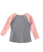Nexgen Girls Girl Full Sleeve T-shirt , Grey/Peach - SNGAW2035167