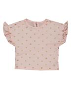 Little Kangaroos Baby Girl T-shirt , Peach - ROGS2019903C