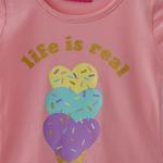 Nexgen Girls Girl T-shirt,Peach,SNGS2035170
