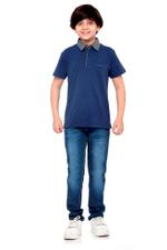 Nexgen Juniors Boys Polo T-Shirt , Navy - VCGSS20007
