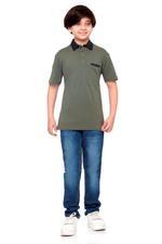 Nexgen Juniors Boys Polo T-Shirt , Olive - VCGSS20006