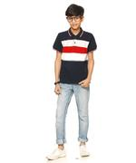 Nexgen Juniors Boys Polo T-Shirt , Navy/Multi - VCGSS20015NVY