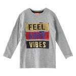 Nexgen Juniors Boys T-shirt , Grey Melange - HDGLW20B2082
