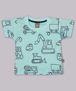 Little Kangaroos Baby Boys T-Shirt , Aqua Blue - ROGS2019401E