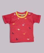 Little Kangaroos Baby Boys T-shirt , Red - ROGS2019308A