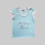 Smart Baby Baby Girls 2 Piece Pack T-shirt , Light Aqua/Pink - NCGSS21SBPG4A