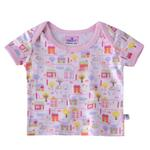 Smart Baby Baby Girls Printed T-shirt,White/Pink-BIGS20SG552BPNK