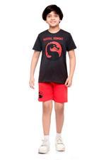 Mortal Combat Boys T-shirt , Anthra Melange - HWGLS21TN11