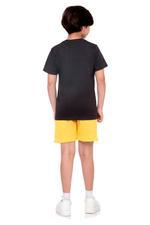 Batman Boys T-shirt , Anthra Melange - HWGLS21TN03