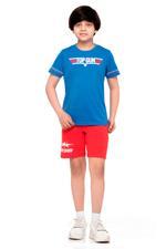 Top Gun Boys T-shirt , Blue Melange - HWGLS21TN15
