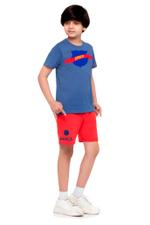 FCB Boys T-shirt , Navy Blue - HWGLS21TN02