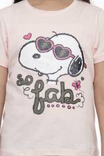 Peanut Girls T-shirt , Light Pink - HWGLS21TEE35