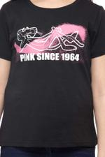 Pink Panther Girls T-shirt , Black - HWGLS21TEE18
