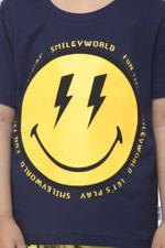 Smiley Boys T-shirt , Navy - HWGLS21TOD11