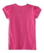 Smiley Girls T-shirt , Hot Pink - HWGLS21TEE08