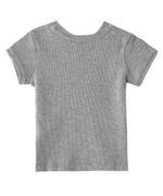 Nexgen Girls Girls Half Sleeve T-Shirt,Grey Melange-VCGS21150COL5