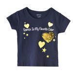 Genius Girls Printed T-shirt,Navy,SIMGS20GEF005