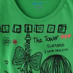 Genius Girls Printed T-shirt,Green,SIMGS20GEF012
