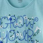 Genius Girls T-shirt,Mint Melange,SIMGS20GEF016