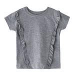 Genius Girls Plain T-shirt,Grey,SIMGS20GEF033