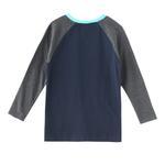 Nexgen Juniors Boys T-shirt , Navy/Grey Melange - HDGLW20B2091
