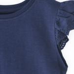 Genius Girls Plain T-shirt,Navy ,SIMGS20GEF042