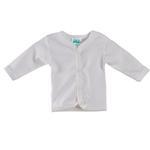 Smart Baby Organic Cotton Unisex Front Button Closure T-shirt , White - TIGJTS3OCWNB