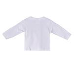 Smart Baby Organic Cotton Unisex Full Sleeve T-shirt , White - TIGTS3OCWNB