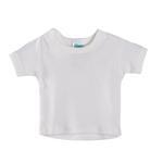 Smart Baby Organic Cotton Unisex T-shirt , White - TIGTS2OCWNB