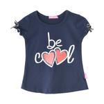 Nexgen Girls Girl T-shirt , Navy - SNGS2035183