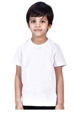 Zebra Crossing Boys School Uniform Plain T-Shirt , White - VCG054