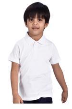 Zebra Crossing Boys School Uniform Plain T-Shirt , White - VCG055