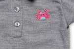 Little Kangaroos Baby Girls T-shirt,Grey-ROGS2019900F