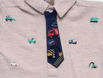 Little Kangaroos Baby Boys Half Sleeves PQ AOP On Front Collar T-shirt ,Oat,ROGS2019317A