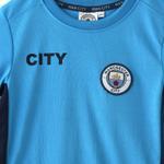 Manchester City Boys T-Shirt,Cyan,HWGLS20MC2