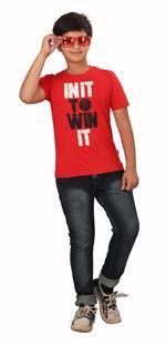 Genius Boys Printed T-shirt,Red SIMGS20GTC006