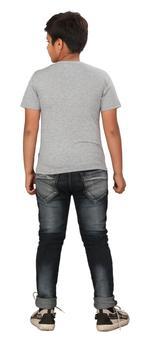 Genius Boys Printed T-shirt,Grey SIMGS20GTC007
