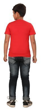 Genius Boys Printed T-shirt,Red SIMGS20GTC009