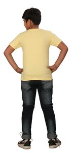 Genius Boys Printed T-shirt,Butter Lemon SIMGS20GTC012
