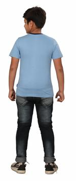Genius Boys Printed T-shirt,Light Blue SIMGS20GTC013