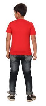 Genius Boys Printed T-shirt,Red SIMGS20GTC022