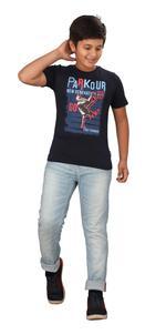 Genius Boys Printed T-shirt,Navy Blue SIMGS20GTC027