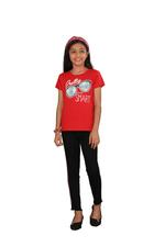 Genius Girls Printed T-shirt,Red SIMGS20GEC006