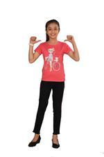 Genius Girls Printed T-shirt,Coral SIMGS20GEC007