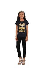 Genius Girls Printed T-shirt,Navy Blue SIMGS20GEC009