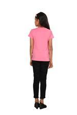 Genius Girls Printed T-shirt,Rose Pink SIMGS20GEC011
