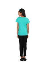 Genius Girls Printed T-shirt,Sea Green SIMGS20GEC012
